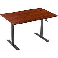 Tisch AlzaErgo Tisch ET3 schwarz +  Tischplatte TTE-03 160x80cm braunes Furnier - Stůl