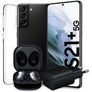 Samsung Galaxy S21 + 5G 128 GB schwarz + Samsung Galaxy Buds Live schwarz + Samsung 25W Netzteil-Nr - Set