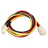 Stromverlängerungskabel für 3-Pin-Stecker [Kühler] - 0,3 m - Kabel
