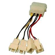 1x4pin Stecker --> 2x3pin Stecker 12V und 2x3pin Stzecker 5V - Adapter