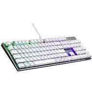 Cooler Master SK652, TTC Low BLAUER-Schalter, weiß - US INTL - Gaming-Tastatur