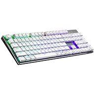 Cooler Master SK653, TTC Low BLAUER-Schalter, weiß - US INTL - Gaming-Tastatur
