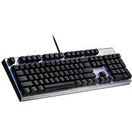 Cooler Master CK351, Roter Schalter, silber - US INTL - Gaming-Tastatur