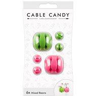 Cable Candy Mixed Beans 6 Stück grün und pink - Kabel-Organizer