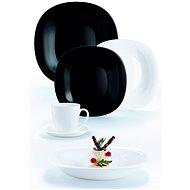 LUMINARC Esszimmergarnitur CARINE 30pcs weiß / schwarz - Speiseset