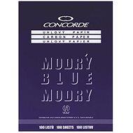 CONCORDE gewinkelt, A4, 100 Blatt, blau - Buntpapier