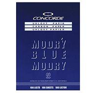 CONCORDE gewinkelt, A4, 25 Blatt, blau - Buntpapier