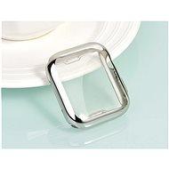 COTEetCI Vollflächiges Thermoplast-Schutzgehäuse für Apple Watch 44 mm Silber