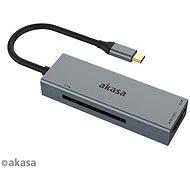 AKASA - 3in1Cardreader für CF, SD und microSD USB Karten / AK-CR-09BK - Kartenleser