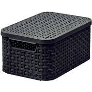Curver Aufbewahrungsbox RATTAN Style2 mit einem Deckel S - Aufbewahrungsbox