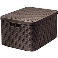 Curver Aufbewahrungsbox RATTAN Style2 mit Deckel M - Aufbewahrungsbox