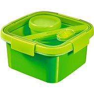 CURVER SMART GO 1,1 Liter mit Besteck, Dressing-Glas und Einsatz - grün - Dose