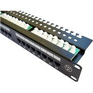 "DATACOM Patchpanel 19"" UTP 24 Port CAT5E LSA 1U BK (3x8p) - Patch Panel"
