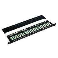 "Datenkommunikations-Patchpanel 19 ""STP 24 Port CAT5E LSA 0.5U BK (3x8p) - Patch Panel"