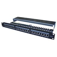"Datenkommunikations-Patchpanel 19"" STP 24 Port CAT6A LSA 1HE BK (3x8p) / VL - Patch Panel"