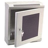 Datacom 10'' 6U / 140 mm (Glas) - grau - Verteiler