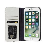 Decoded Leather Wallet Case 2 Grey iPhone 8 Plus/7 Plus/6s Plus - Handyhülle