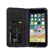 Decoded Leather Wallet Case Black iPhone 8/7/6s - Handyhülle