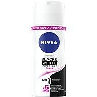 Deospray für Frauen NIVEA Black&White Clear mini 100 ml - Reisegröße - Antiperspirant für Damen