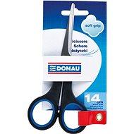 Büroscheren DONAU 14cm Soft Grip schwarz/blau - Kancelářské nůžky