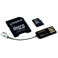 Speicherkarte Kingston MicroSDHC 8 Gigabyte Klasse 4 + SD-Adapter und USB-Lesegerät - Speicherkarte