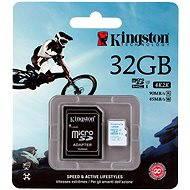Kingston MicroSDHC 32 Gigabyte Class 10 UHS-I U3 Action Camera + SD Adapter - Speicherkarte