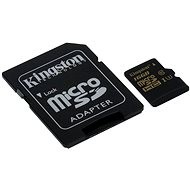 Speicherkarte Kingston MicroSDHC 16 GB UHS-I U3 + SD-Adapter - Speicherkarte