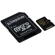 Speicherkarte Kingston MicroSDXC 64 GB UHS-I U3 + SD-Adapter - Speicherkarte
