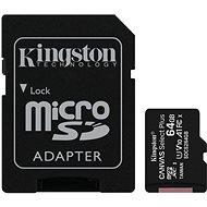 Speicherkarte Kingston Canvas Select Plus micro SDXC 64GB Class 10 UHS-I + SD Adapter
