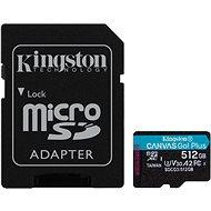 Kingston Canvas Go Plus microSDXC 512 GB + SD-Adapter - Speicherkarte