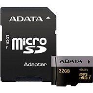 ADATA Premier Pro V30G Micro SDHC 32 GB UHS-I U3 + SD-Adapter - Speicherkarte