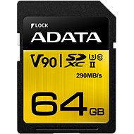 ADATA Premier ONE SDXC 64 Gigabyte UHS-II U3 Klasse 10 - Speicherkarte