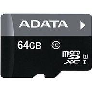ADATA Premier microSDXC 64 GB UHS-I A1 Klasse 10 + SD-Adapter - Speicherkarte