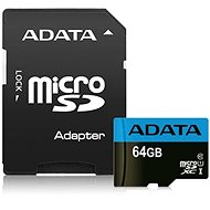 ADATA Premier MicroSDXC 64 Gigabyte UHS-I Class 10 + SD-Adapter - Speicherkarte