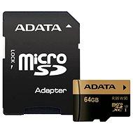 ADATA XPG MicroSDXC 64 GB UHS-I U3 Class 10 + SDHC-Adapter - Speicherkarte