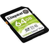 Kingston Canvas Select Plus SDXC 64GB Class 10 UHS-I - Speicherkarte