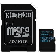 Kingston Canvas Go! MicroSDHC 32GB UHS-I U3 + SD Adapter - Speicherkarte