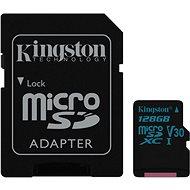 Kingston Canvas Go! MicroSDXC 128GB UHS-I U3 + SD Adapter - Speicherkarte