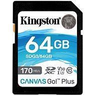 Kingston Canvas Go Plus SDXC 64 GB + SD-Adapter - Speicherkarte