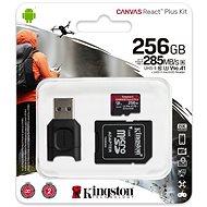 Kingston Canvas React Plus microSDXC 256 GB + SD-Adapter und Kartenleser - Speicherkarte
