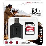 Kingston Canvas React Plus SDXC 64 GB + SD-Adapter und Kartenleser - Speicherkarte