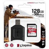 Kingston Canvas React Plus SDXC 128 GB + SD-Adapter und Kartenleser - Speicherkarte