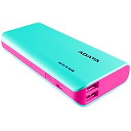 ADATA PT100-Power-Bank 10000mAh türkis-rosa - Power Bank