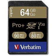 VERBATIM Pro+ SDXC 64GB UHS-I V30 U3 - Speicherkarte