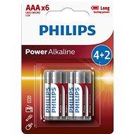 Philips LR03P6BP 6 Stück in Packung - Einwegbatterie