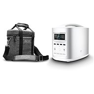 EcoFlow RIVER370 Portable Power Station Silver + Element Proof Protective Case - Ladestation
