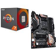 GIGABYTE AORUS X470 - Ultra-Gaming-Action-Pack + AMD-CPU 7 - 2700X-CPU - Set