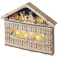 EMOS LED Adventskalender, 19x40 cm, 2x AA, Innen, warmweiss - Weihnachtsbeleuchtung