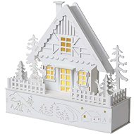 EMOS LED Weihnachtshaus, 28 cm, 2 × AAA, warmweiss, Timer