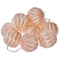 EMOS LED Weihnachtsgirlande - 10 × rosa Brei. Ball, 2 × AA, warm b., Zeit. - Weihnachtsbeleuchtung